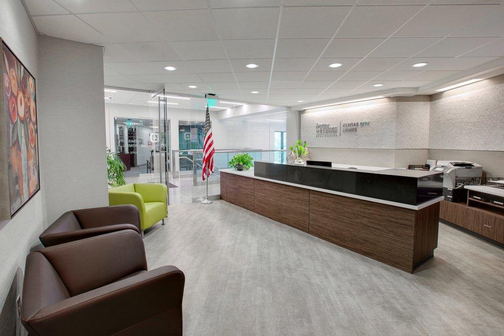 Better Homes & Gardens lobby & reception desk
