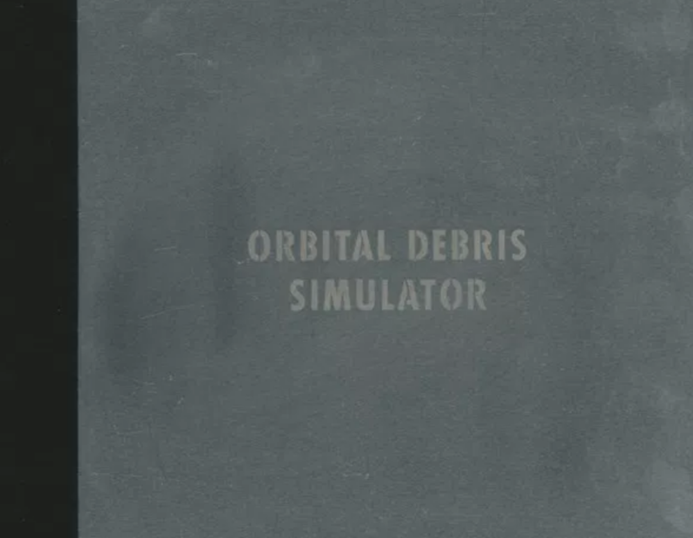Heidi Neilson,  Orbital Debris Simulator    Assisted with sand blasting, letterpress printing, and book-binding
