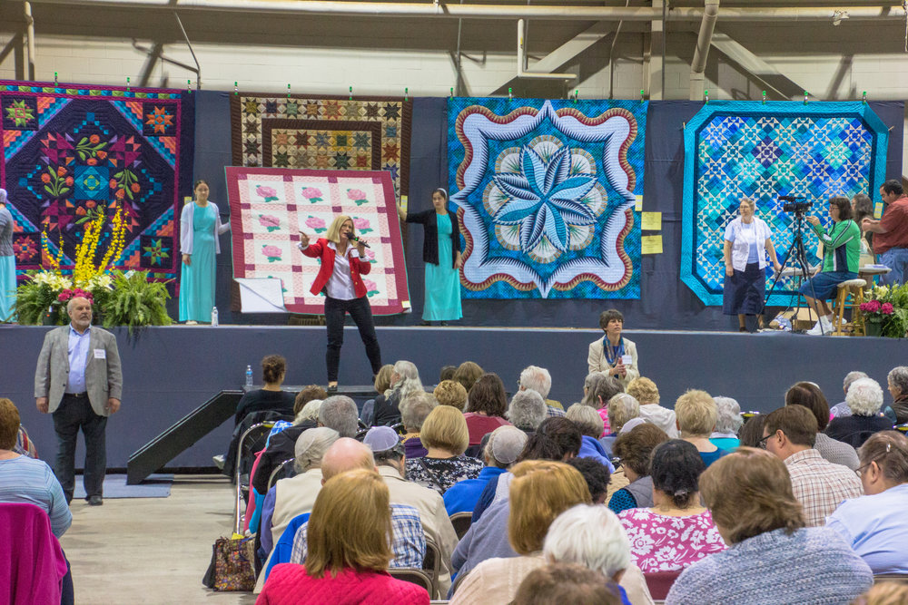 A scene from last year's Quilt Auction.