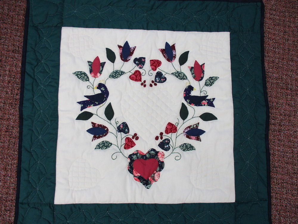 1, APPLIQUE, 31x31, Donated and Quilted by Ruth Hershey