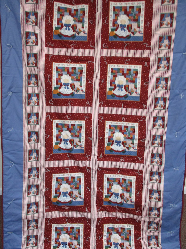 9, DEAR DOLLY COMFORTER, 53x96, Donated by Cumberland Valley Relief Center