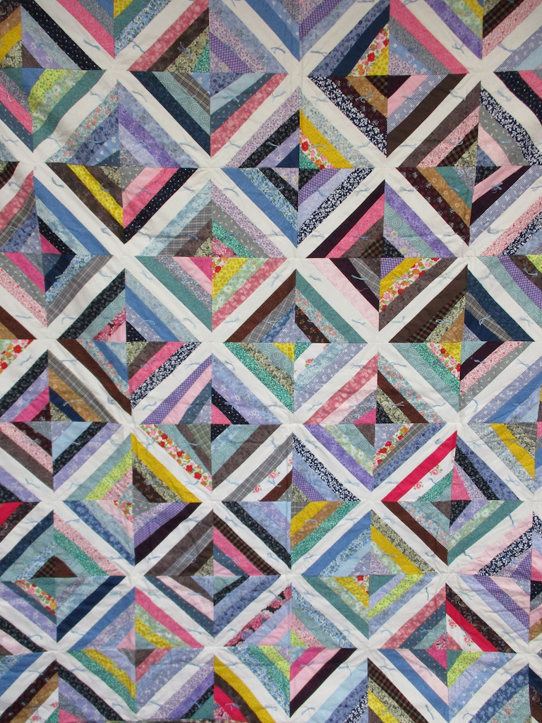 10, STRING COMFORTER, 70x79, Donated by Thelma Diller