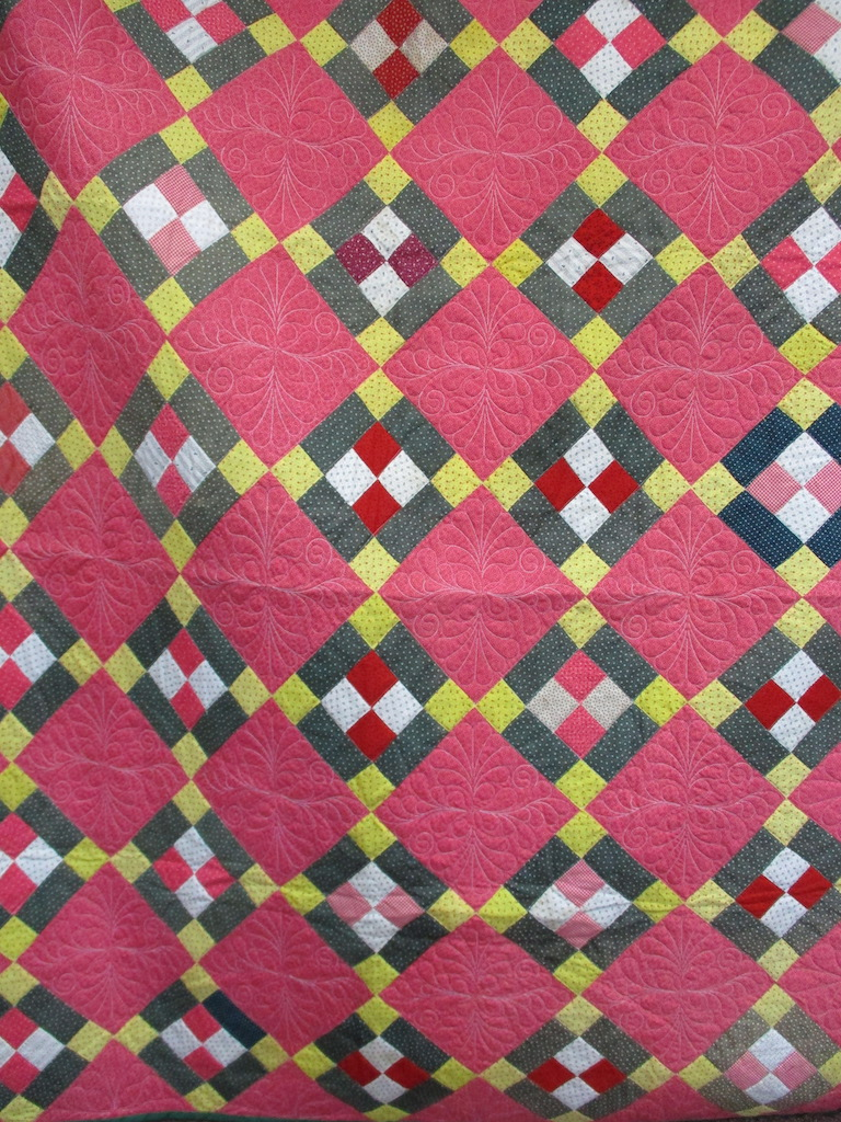 18, PUSS IN THE CORNER (machine quilted), 56x72, Pieced by Mildred Groff, Donated by Cumberland Valley Relief Center