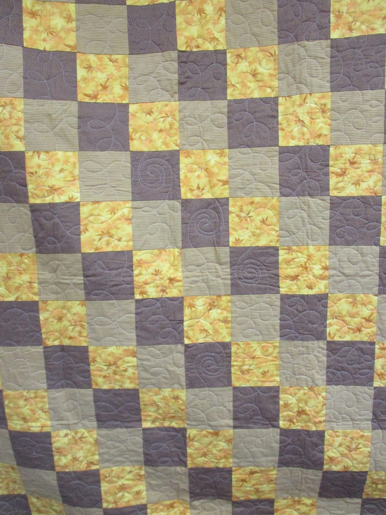 20, AUTUMN LEAVES (machine quilted), 58x76, Pieced by Mildred Groff, Donated by Cumberland Valley Relief Center