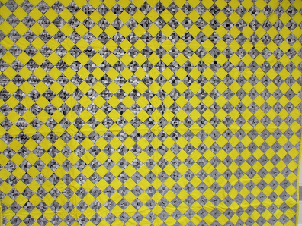 22, CHECKERBOARD COMFORTER, 84x85, Donated by A friend of MCC