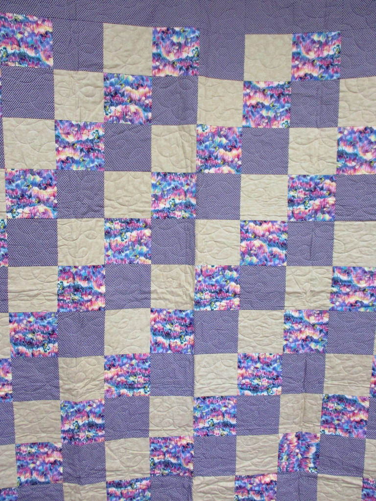 24, BUTTERFLIES (machine quilted), 59x76, Pieced by Mildred Groff, Donated by Cumberland Valley Relief Center