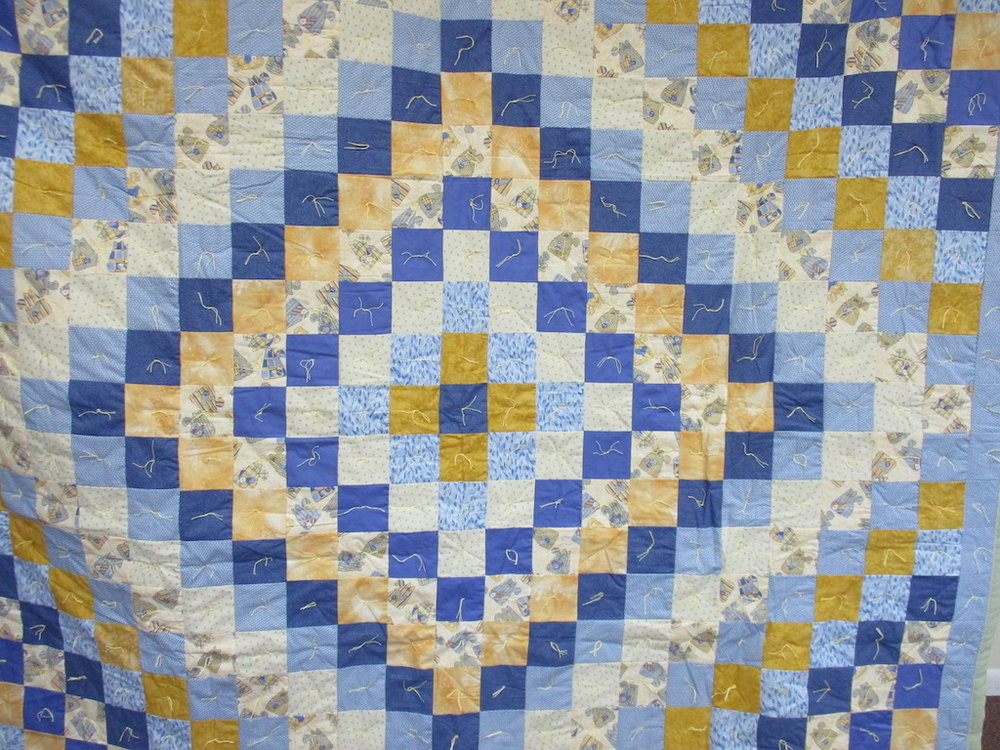 28, KITTY BLUE COMFORTER, 76x94, Donated by Cumberland Valley Relief Center