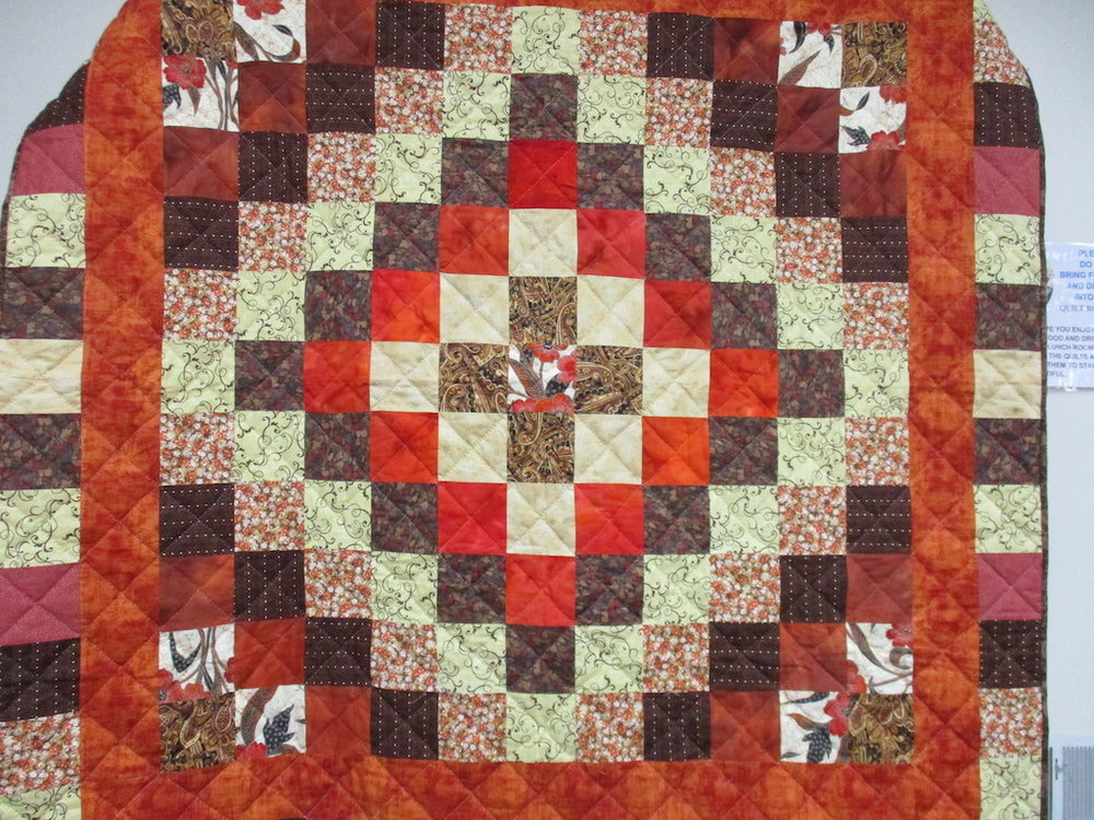 30, AUTUMN TRIP AROUND THE WORLD, 58x58, Quilted by MRC Harleysville volunteers, Donated by A friend of MCC