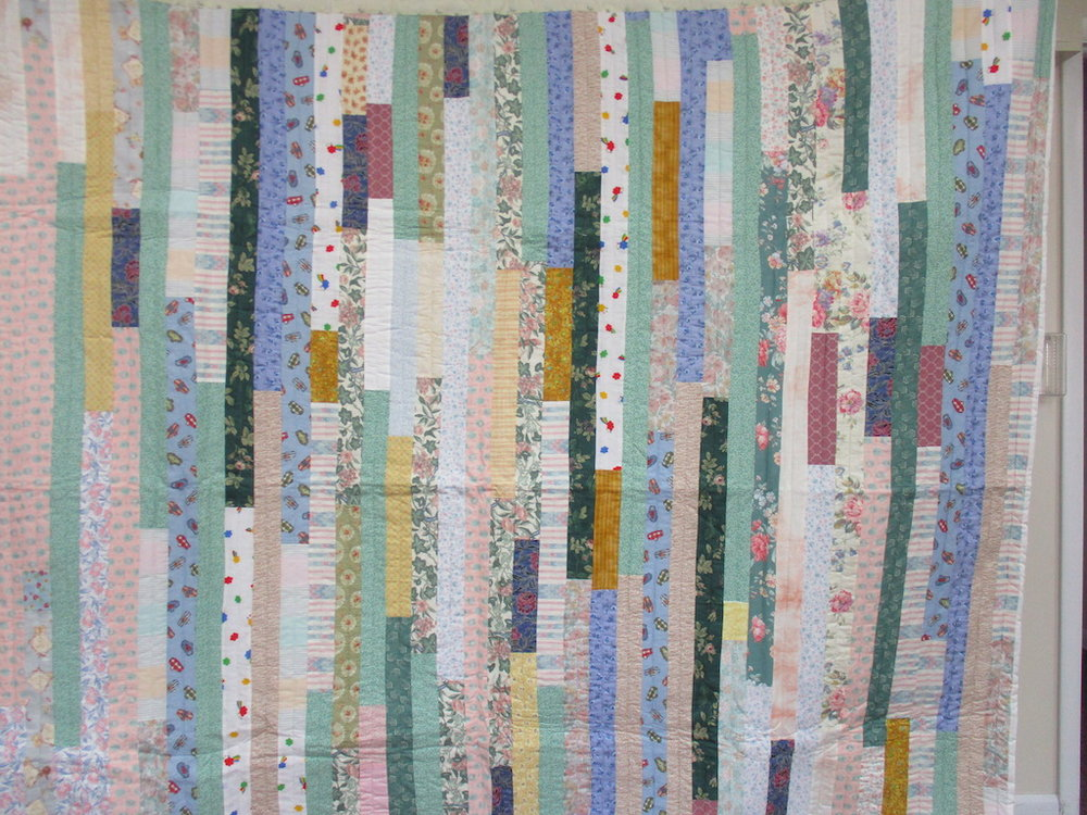 38, STRIPS, 80x84, Donated by Hershey's Mennonite Church Sewing Circle