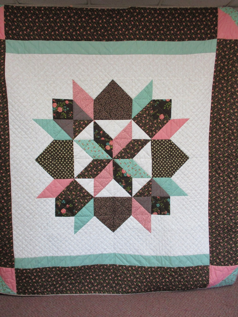 61, STARS, 81x88, Quilted and Donated by Weaverland Anabaptist Faith Community