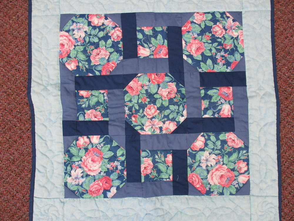 76, GARDEN TWIST, 27x27, Donated and Quilted by Ruth Hershey