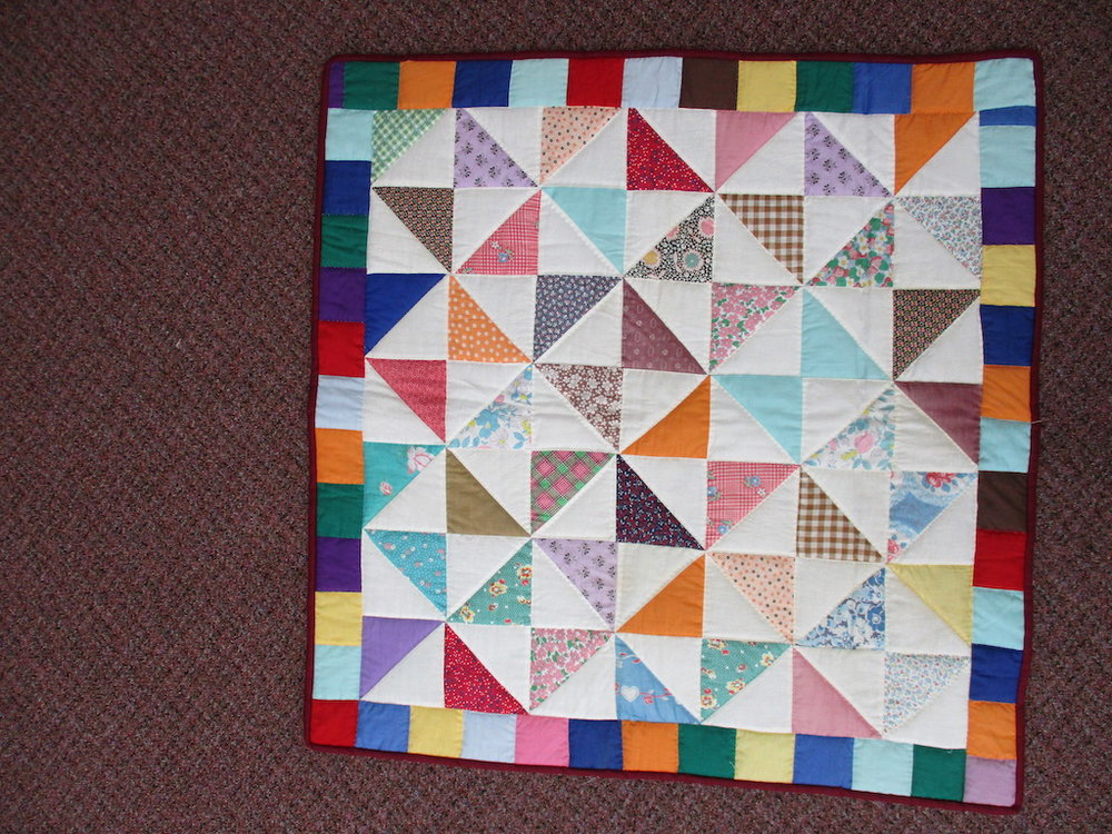 97, WINDMILL, 34x34, Donated and Quilted by Country Gift and Thrift