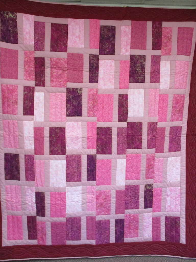 """107, """"T"""" QUILT, 75x87, Quilted and Donated by Weaverland Anabaptist Faith Community"""
