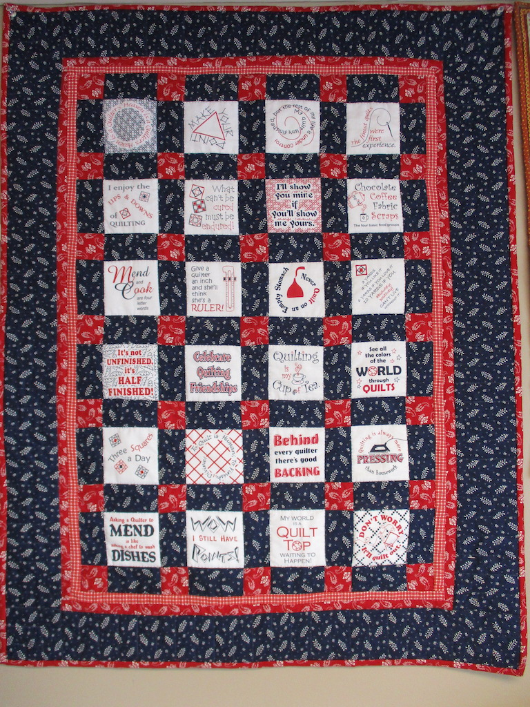 110, THINKING OUT LOUD (signed and dated), 28x37, Pieced by Dorothy Crider, Quilted by Marie Eby, Donated by Cumberland Valley Relief Center