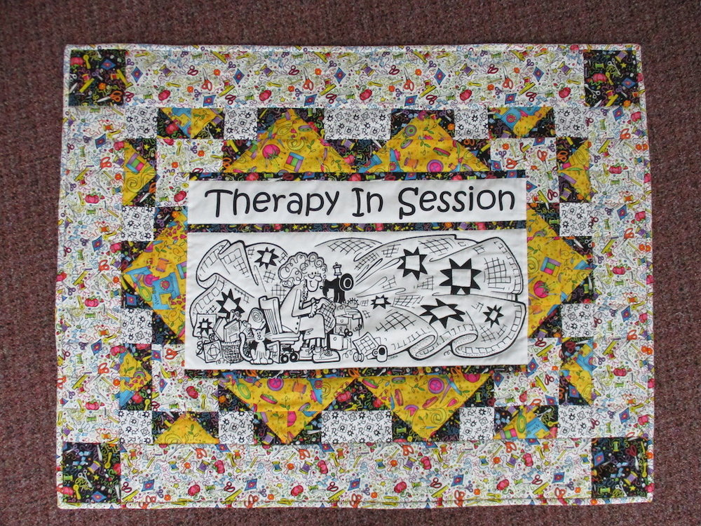 120, THERAPY IN SESSION, 27x35, Pieced and Donated by A friend of MCC, Quilted by Joan Tice