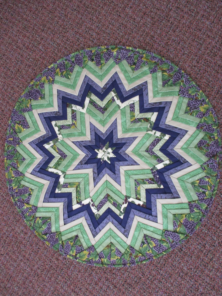 """123, FOLDED STAR, round 28"""" diameter, Donated by A friend of MCC"""