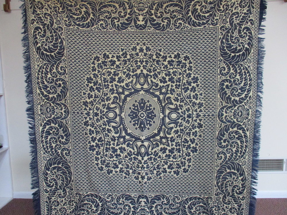 132, VINTAGE WOOL COVERLET, 76x84, Donated by Harold King
