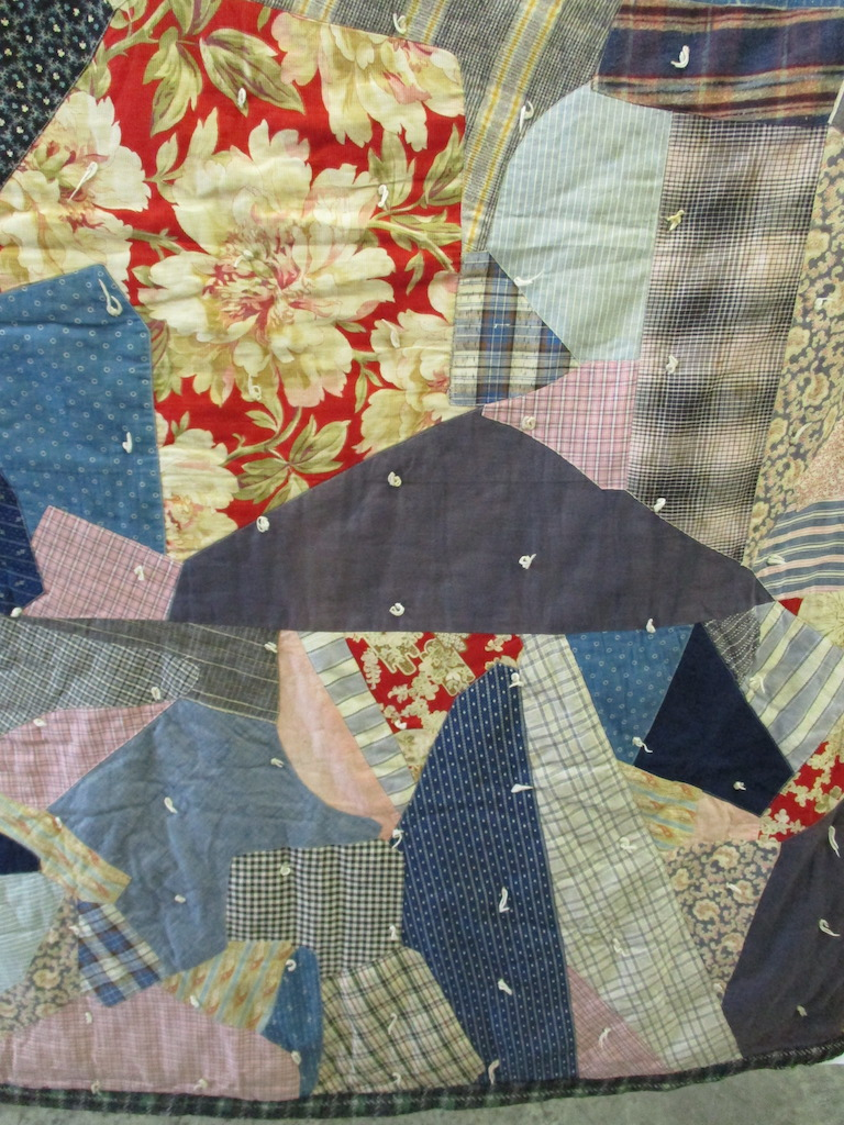 145, VINTAGE REVERSIBLE CRAZY PATCH, 49x68, Donated by a friend of Cumberland Valley Relief Center