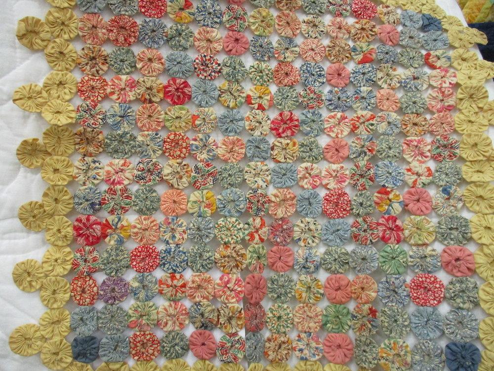 149, VINTAGE YO-YO, 19x19, Donated by Marlin & Kathy Grove