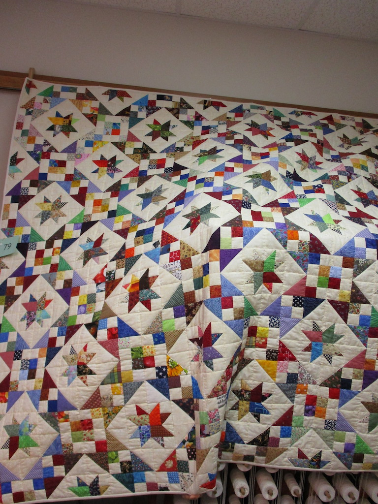 184, MONTROSE STAR (signed and dated), 72x72, Pieced by Montrose Quilters, Quilted by The Cumberland Valley Relief Center