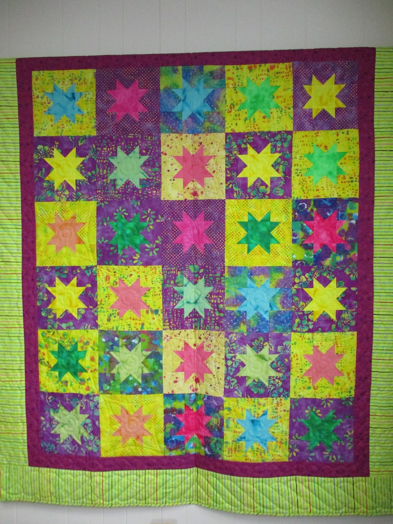 190, BIMINI BREEZE, 70x80, Pieced by Connie Lapp, Quilted by MCC Volunteers