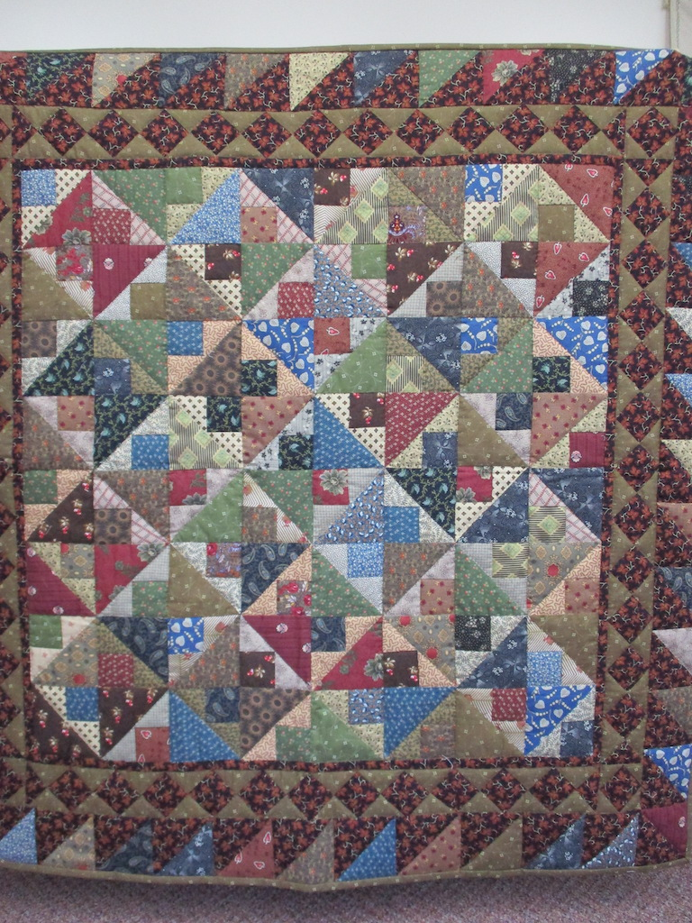 205, ENDURANCE - CIVIL WAR REPRODUCTION FABRIC, 46x46, Quilted and Donated by Locust Grove Mennonite Church Ladies' Sewing Circle