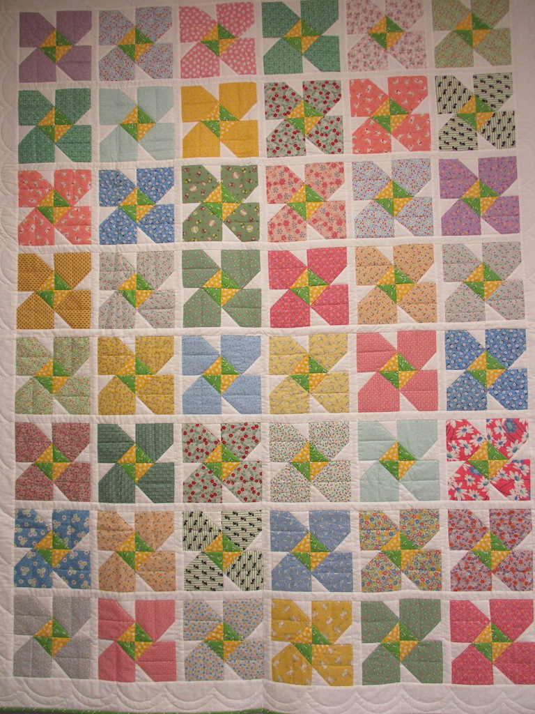 227, 1930'S BOUQUET (signed and dated), 65x84, Pieced by Susie DeVos, Quilted by The Cumberland Valley Relief Center
