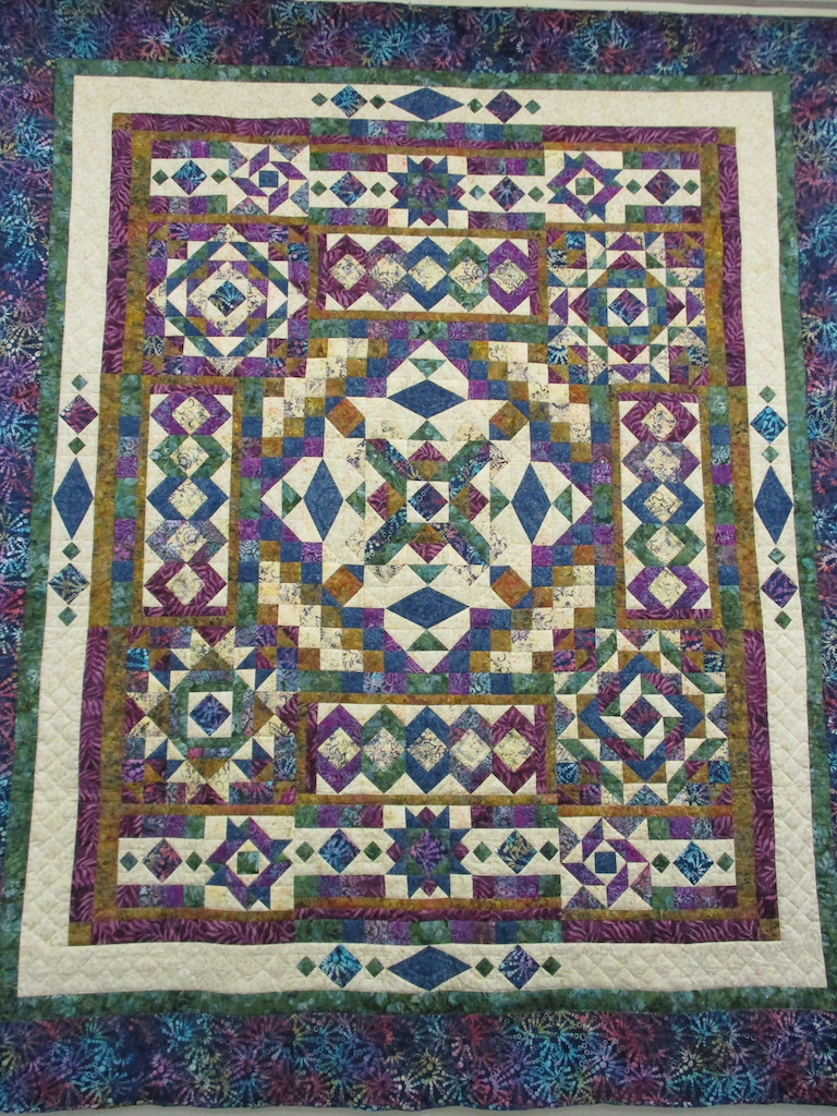 231, GEMSTONE (signed and dated), 88x104, Pieced by Sandi Layton, Quilted by The Cumberland Valley Relief Center
