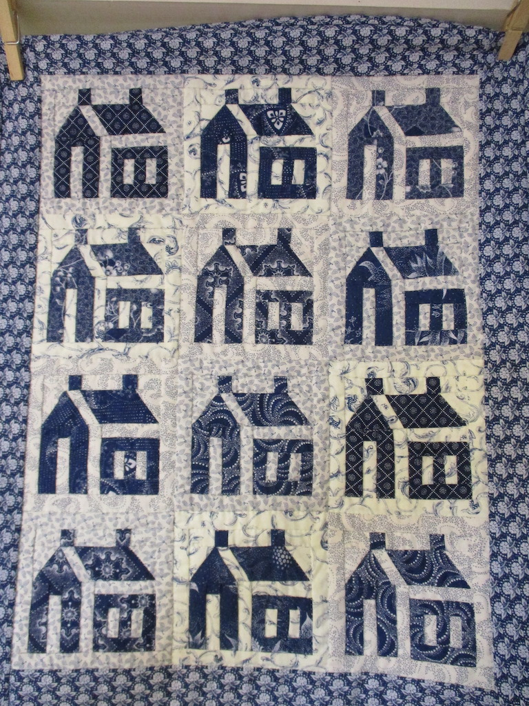 239, SCHOOL HOUSE (signed and dated), 17x21, Pieced by Sandi Layton, Quilted by Fannie Frey