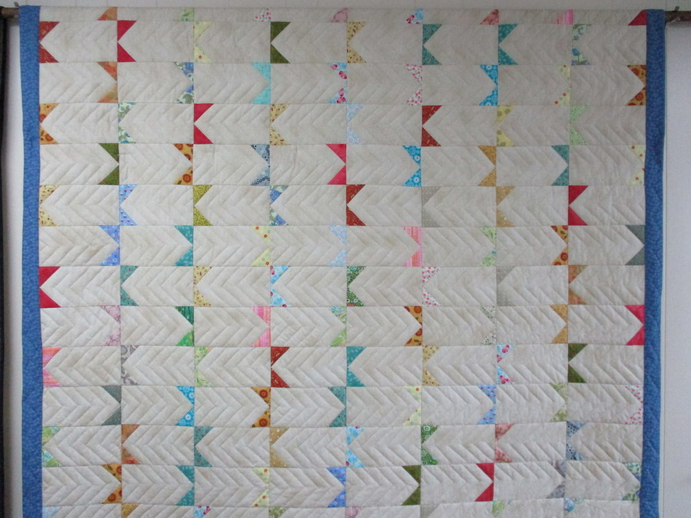 241, SUMMER SIZZLE, 88x102, Pieced by Connie Lapp, Quilted by MCC Volunteers