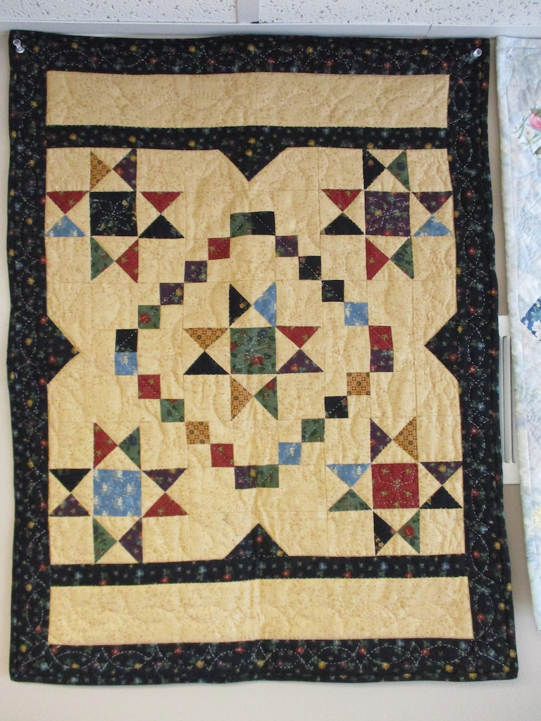 250, SIMPLY STELLAR (signed and dated), 21x27, Pieced and Quilted by Anne Duvall
