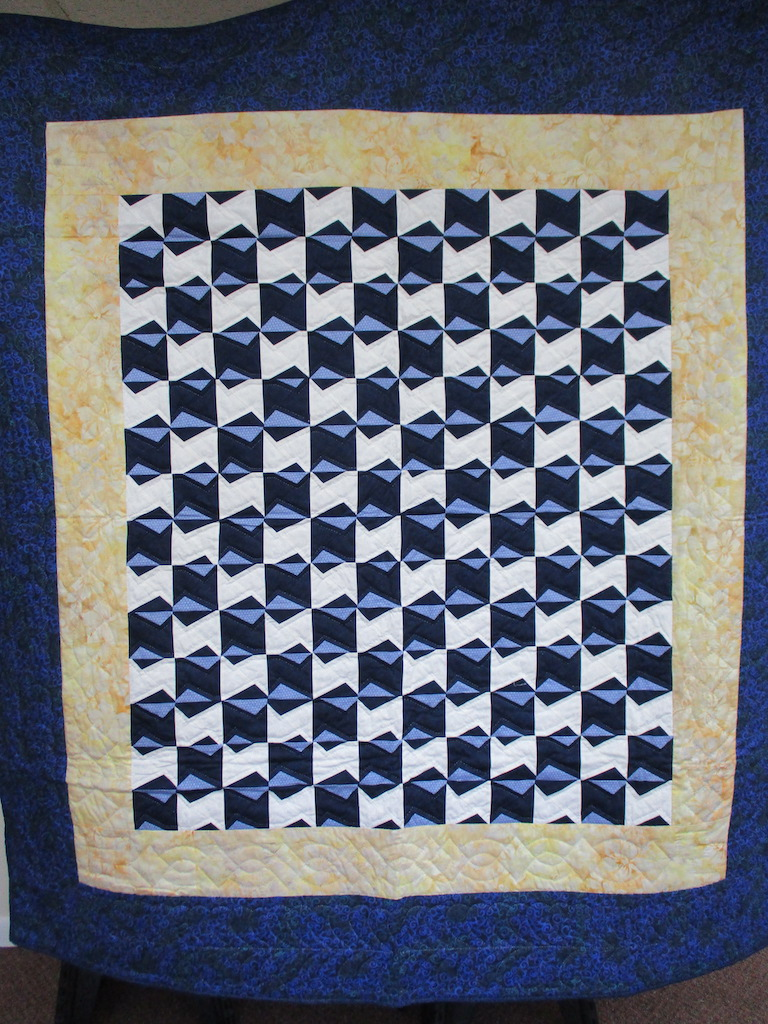 311, ZIG ZAGGING ALONG, 70x78, Pieced and Donated by Slate Hill Mennonite, Quilted by MCC Volunteers