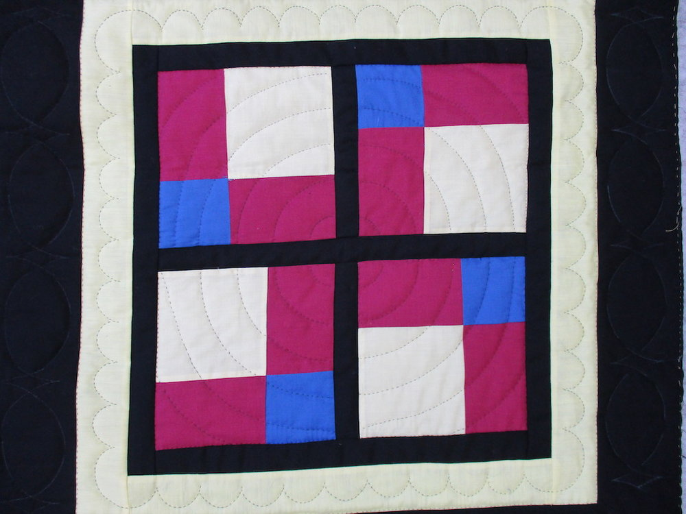 327, SQUARES, 29x29, Pieced and Donated by Lucille Groff, Quilted by MCC Volunteers
