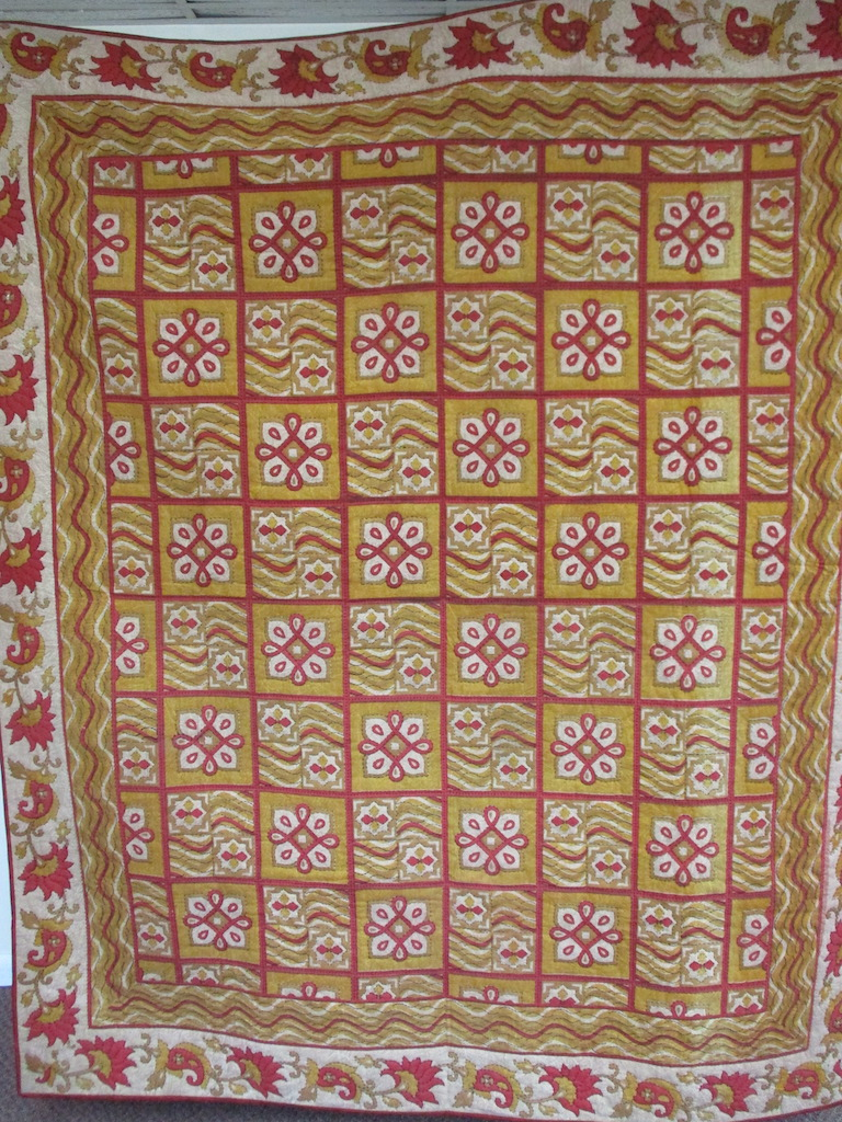 326, INDIAN BLOCK LONG STITCH, 80x98, Donated by Elaine Good, Quilted by MCC Volunteers
