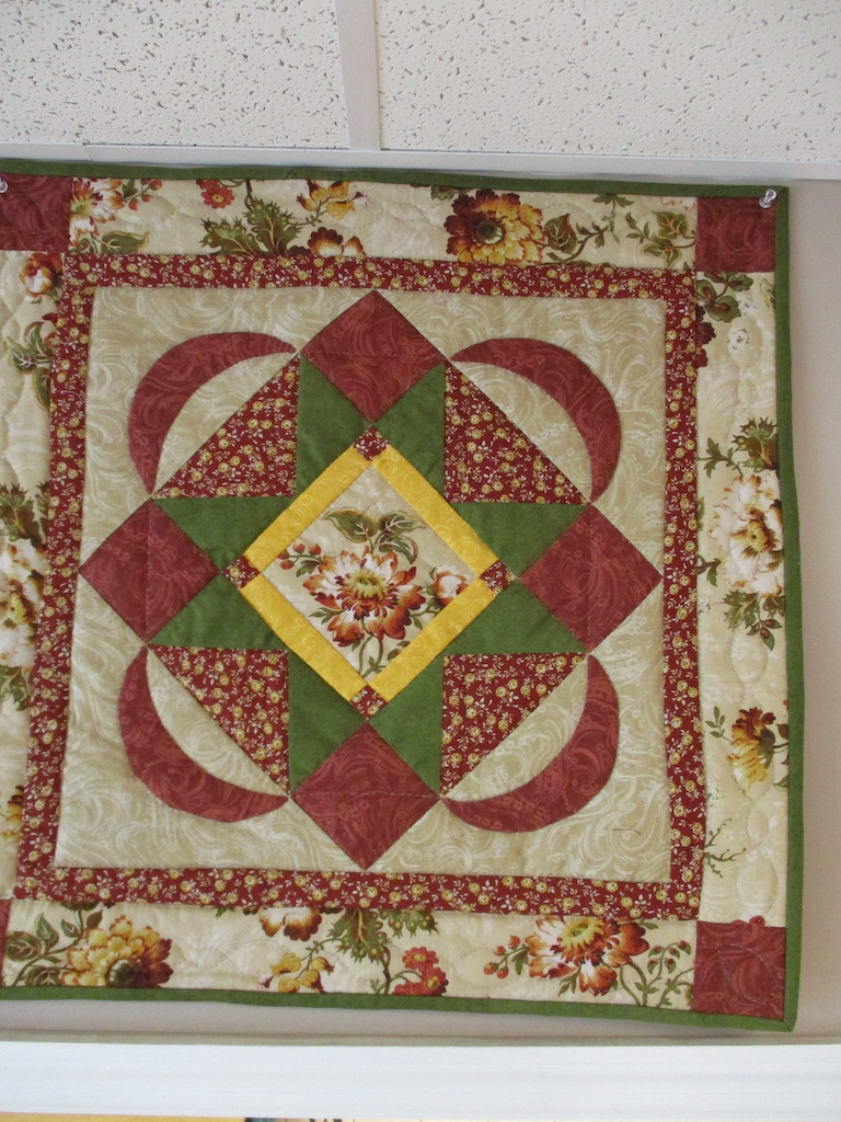 331, FLORAL ELEGANCE (signed and dated), 24x24, Pieced by Dorothy Crider, Quilted by Marie Eby