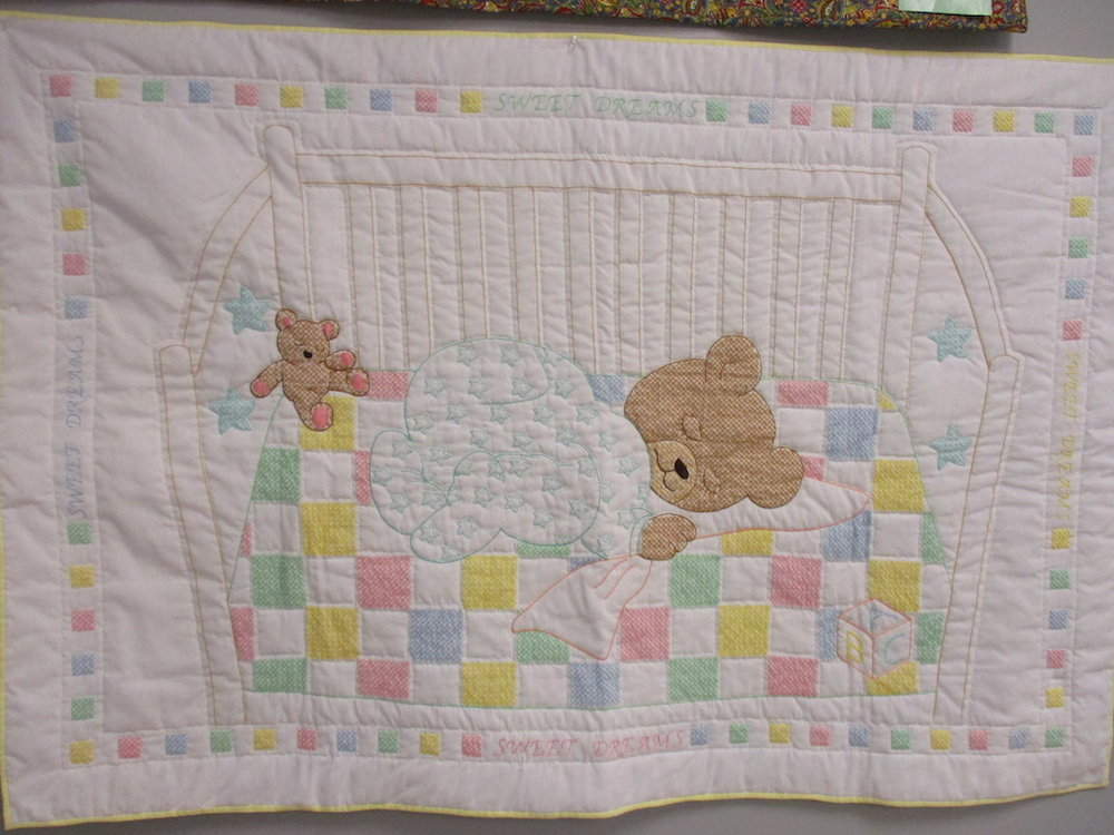 350, SWEET DREAMS (signed and dated), 36x54, Quilted and Embroidered by Pat Sollenberger