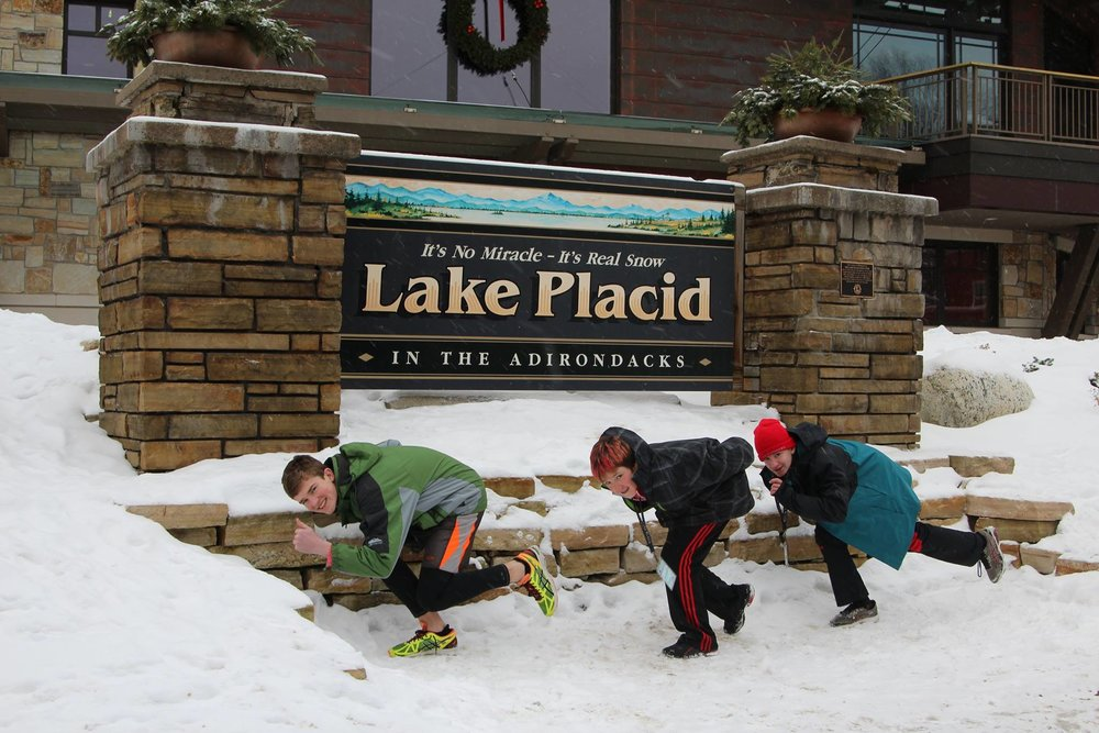 Some of our skaters showing their best form while competing in Lake Placid (home of the 1980 Olympics)