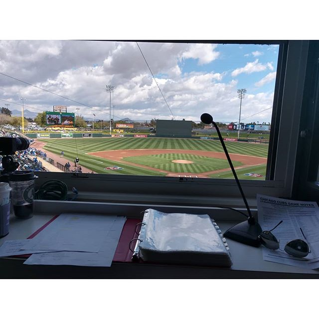 Made my baseball Public Address debut yesterday as a last-minute sub (I wasn't scheduled to do anything, and the usual PA guy got sick). A whole different adrenaline rush, especially with a sellout crowd.