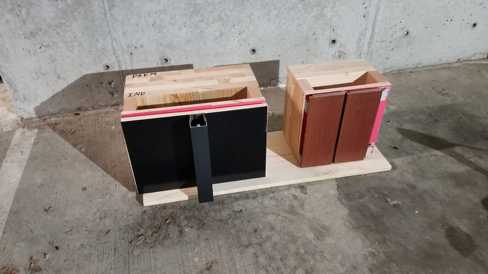 CLT Wall Assembly Mock-ups