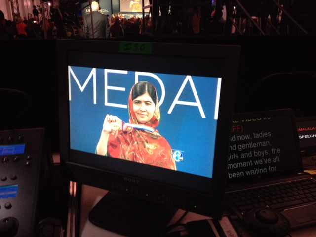 Scriptwriter for the Liberty Medal honoring Malala Yousafzai