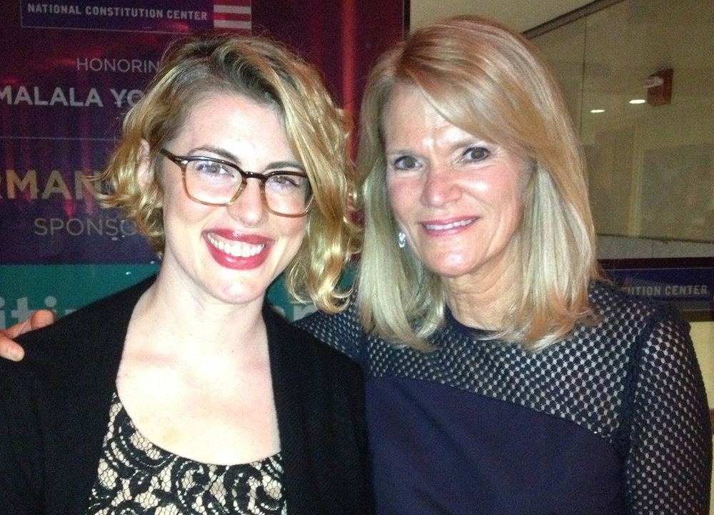 Scriptwriter for the Liberty Medal (with host Martha Raddatz of ABC News)