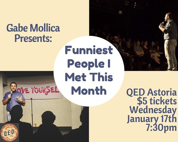 Wednesday, 7:30! Come see my stand up show at @qedastoria Tickets are only $5, link in bio  Gabe Mollica Deno DeMartino Dan Raderstrong Subhah Agarwal Paul Julmeus Steven Rogers Andrew Casertano Dekunle