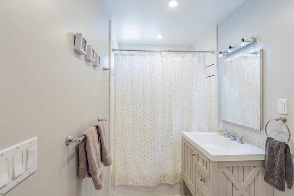 Updated Bathroom House for Rent Santa Cruz