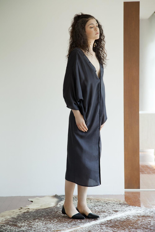 KAZUKO DRESS- BLACK SILK SHIRT DRESS.jpg
