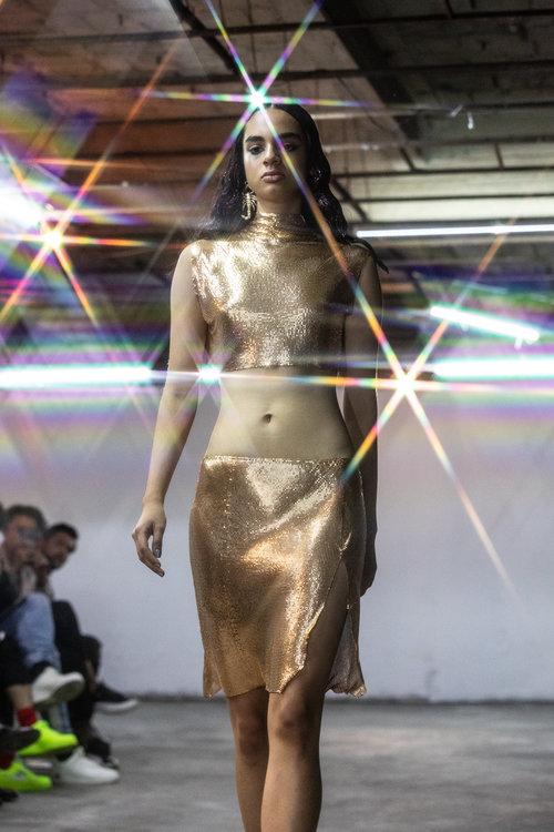Paloma Lira , Crop top and skirt