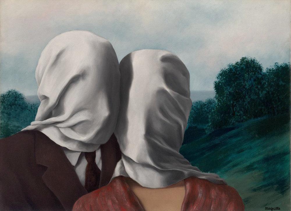 """René Magritte """"Les amants"""""""