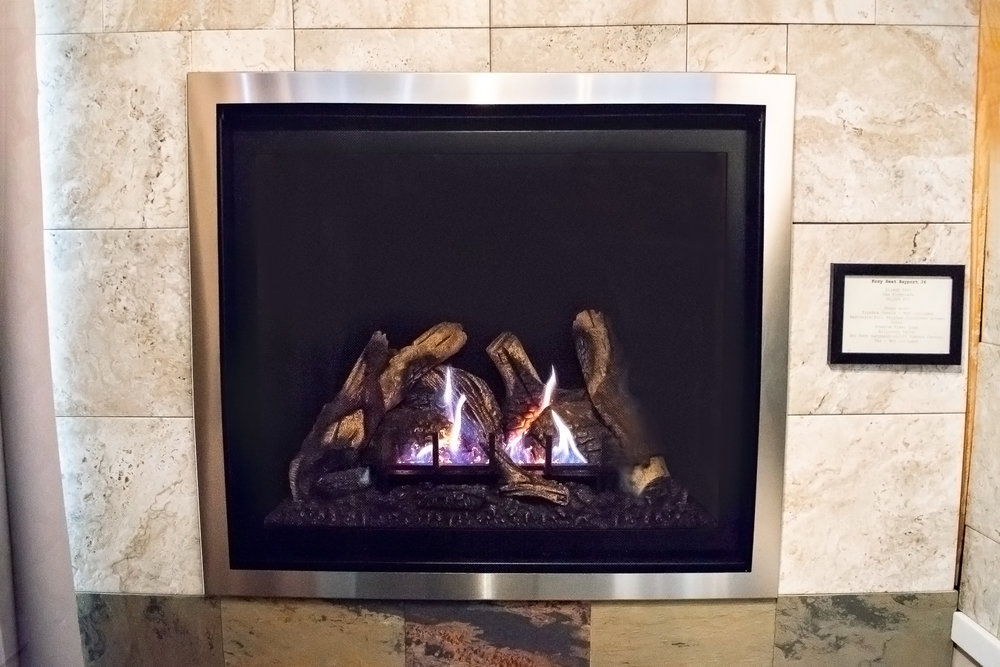 Kozy Heat Bayport 36 - ‧ Direct Vent Gas Fireplace - 26,500 BTU‧ Firebox Panels – Not included‧ Rectangle Full Brushed Stainless screen front‧ Premium Fiber Logs‧ Millivolt Valve‧ Sky Tech handheld on/off Remote Control‧ Fan – Not included‧ Large viewing area‧ Choice of control systems‧ Also available in larger size