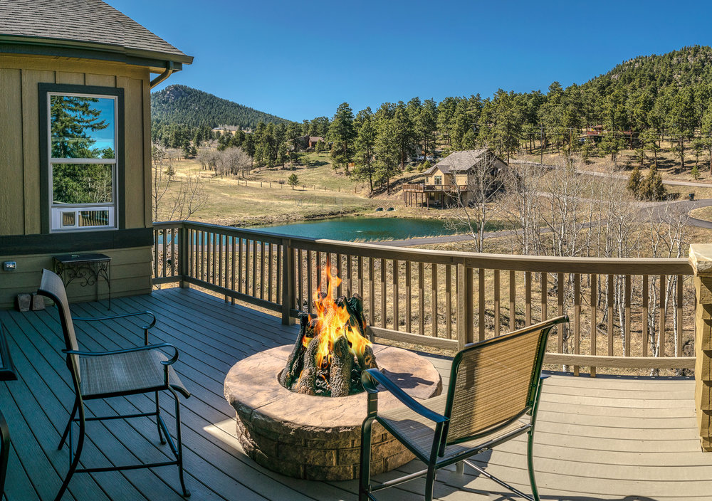 Golden Blount Gas Firepit installed in Evergreen, CO