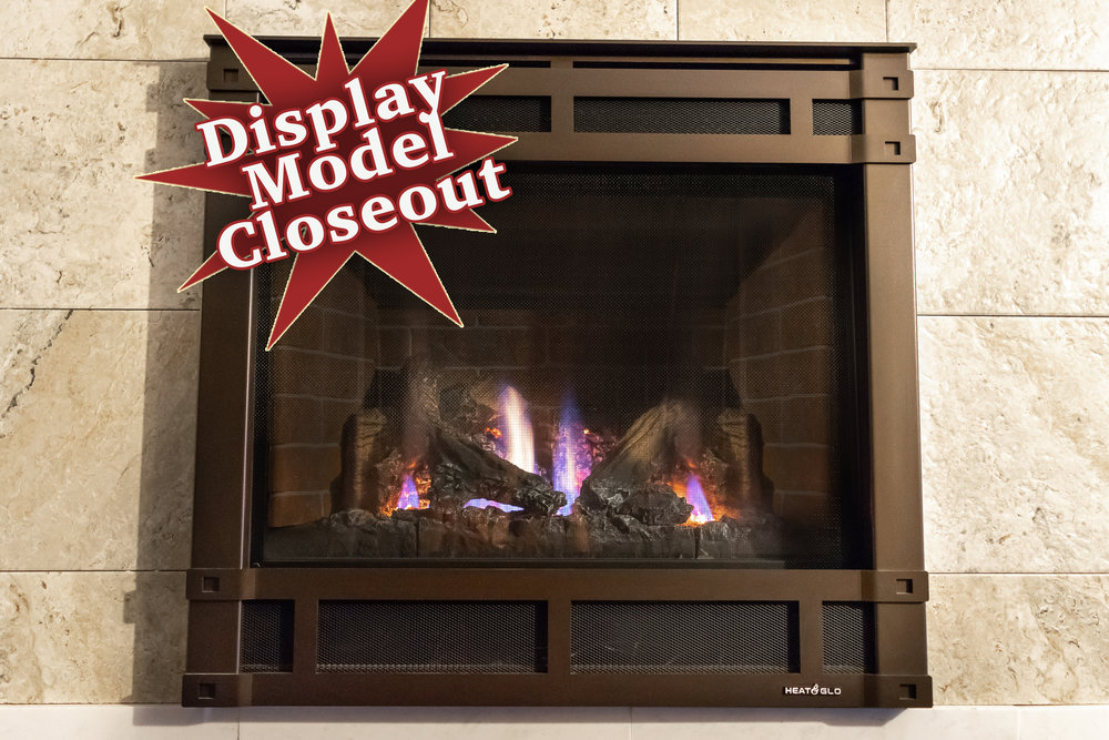 Heat N Glo SL5 - ‧ Direct Vent Gas Fireplace - 21,000 BTU‧ Stratford Brick Firebox Panels‧ Halston Front in New Bronze‧ Five Standard Definition Logs‧ Intellifire Ignition System‧ Wired Thermostat‧ Fan – Not Included‧ Slimline firebox‧ Dark brown faceplate