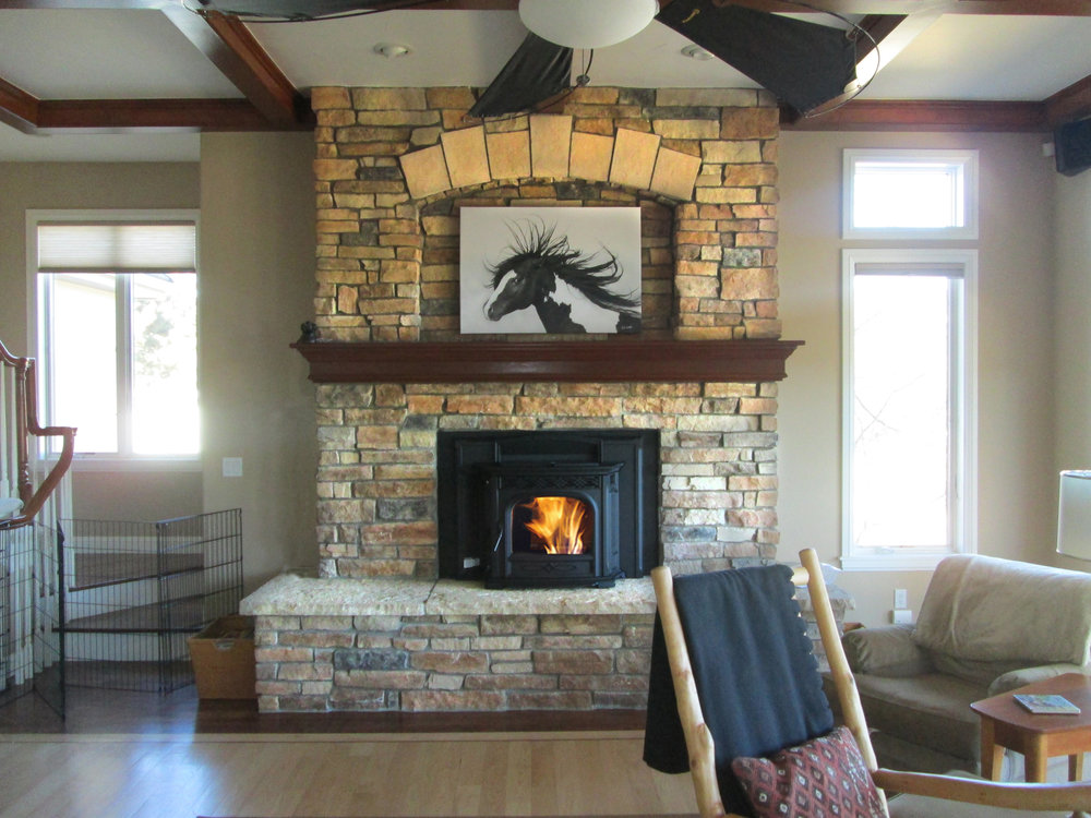 Pellet-Fueled Inserts  Inserts are used in old, inefficient masonry fireplaces. There are two types, ultra-efficient heaters called inserts, and decorative styles called gas log sets.